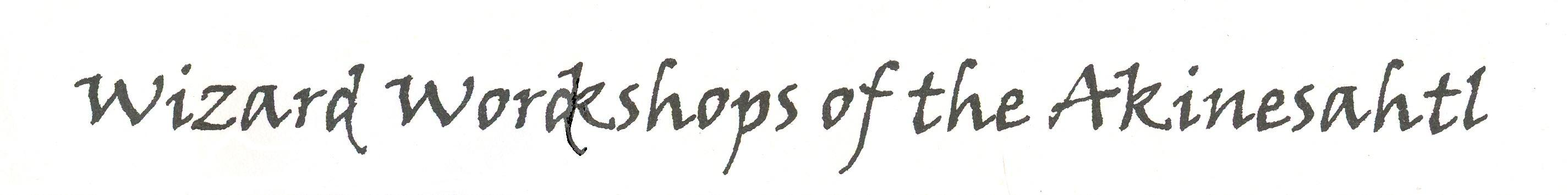 Logo of the Wizard Wordshops of the Akinesahtl. (montana rockhounding, rock collecting, rockhounding in montana, collecting locations, mineral collecting, fossils, fossil collecting, gold panning rockhounding, montana, montana agate)
